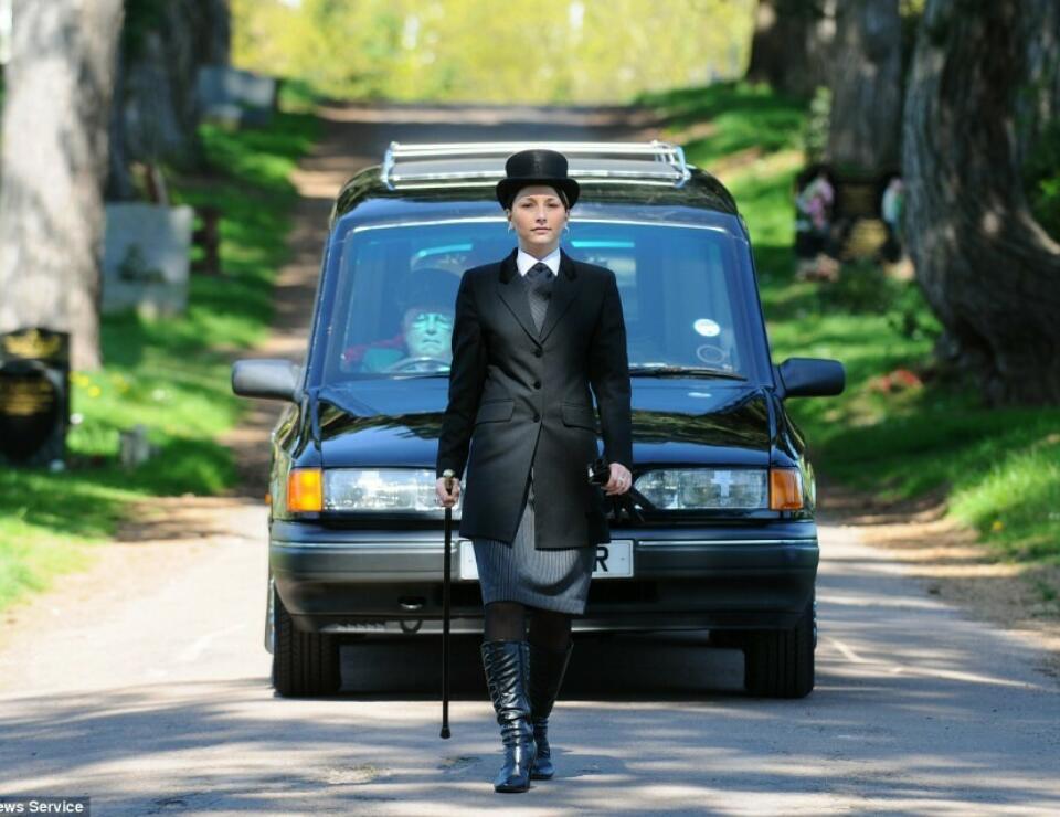 Female funeral director